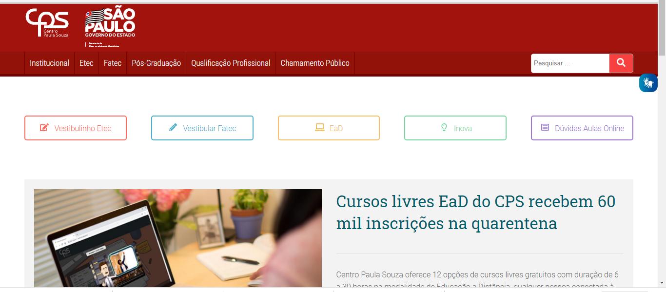 Inscrições ETEC 2021