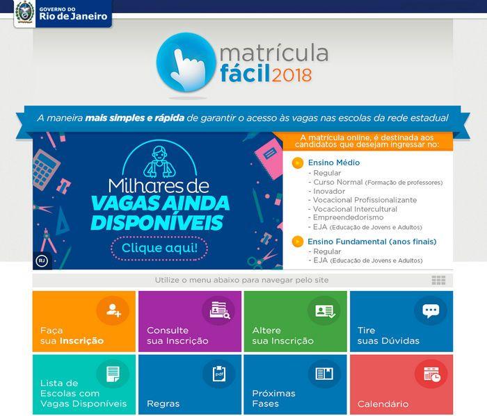 Matrícula Fácil 2021