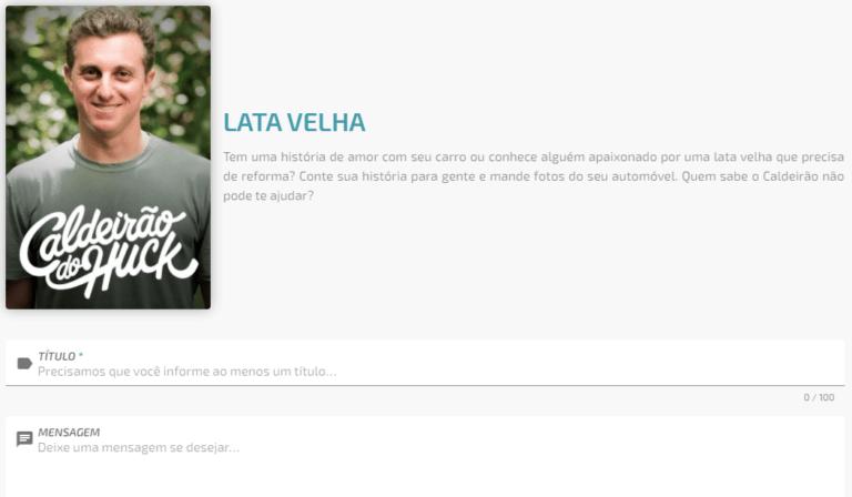 Inscrições Lata Velha 2022